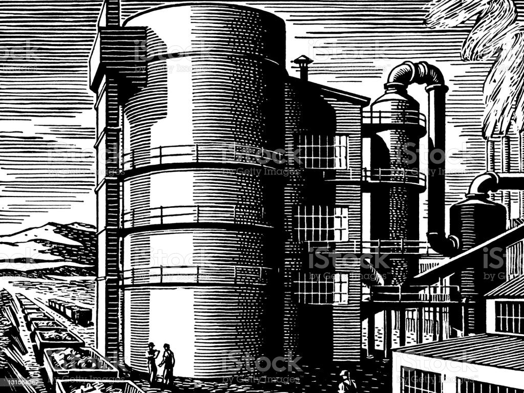 coal Silo royalty-free coal silo stock vector art & more images of architecture