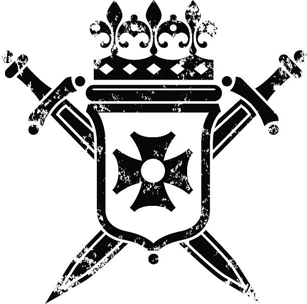 Coat of arms grunge. A grunge coat of arms. maltese cross stock illustrations