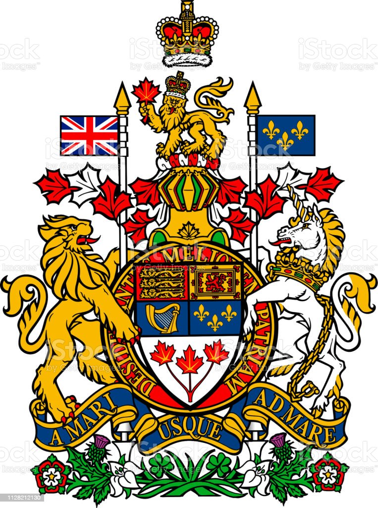 National coat of arms of Canada.