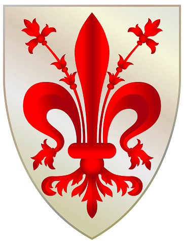 Coat of arms of Florence - Italy.