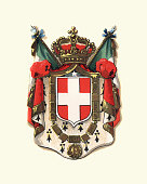 istock Coat of Arms of Italy, 1898 598256018