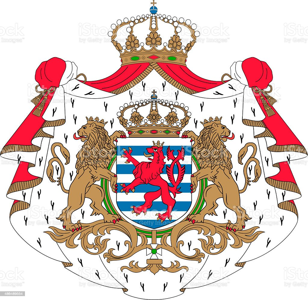 Coat of arms of Luxembourg vector art illustration