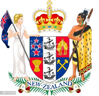 istock Coat of arms of New Zealand 487124782