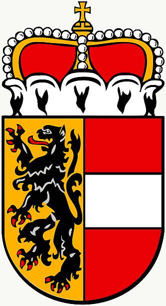 bildbanksillustrationer, clip art samt tecknat material och ikoner med coat of arms of salzburg - austria. - salzburg
