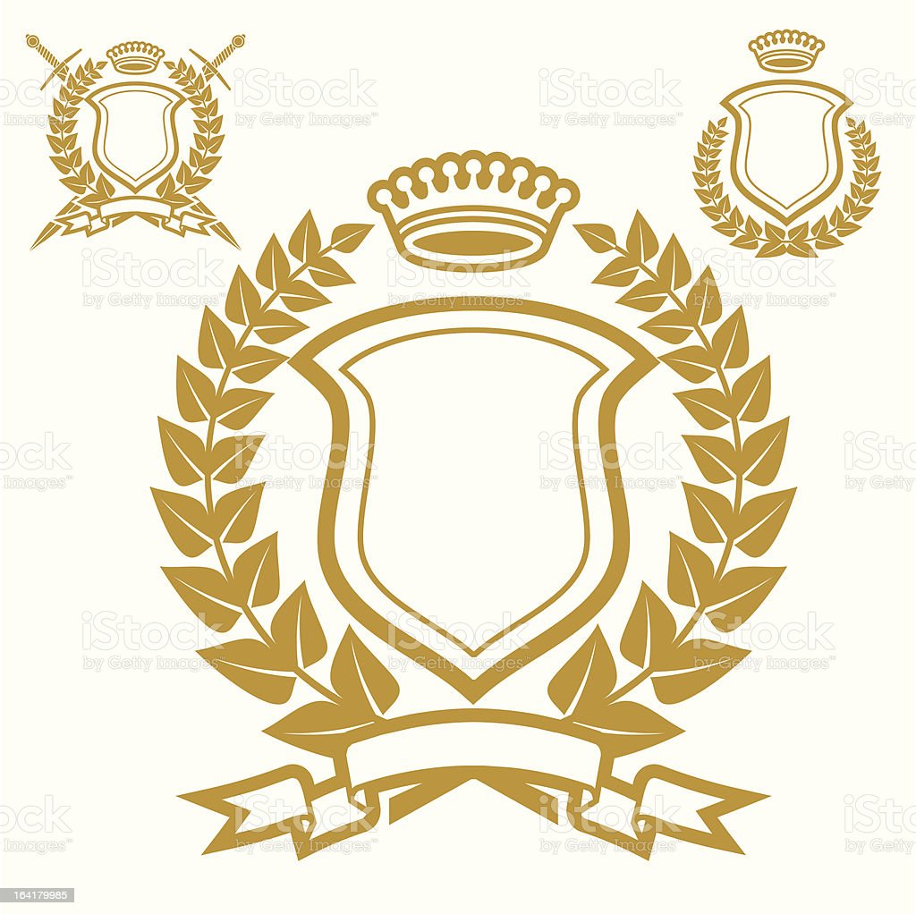 Coat Of Arms With Garland royalty-free stock vector art