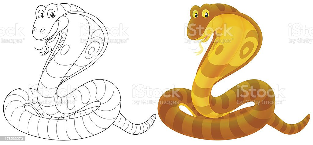 Cobra royalty-free stock vector art