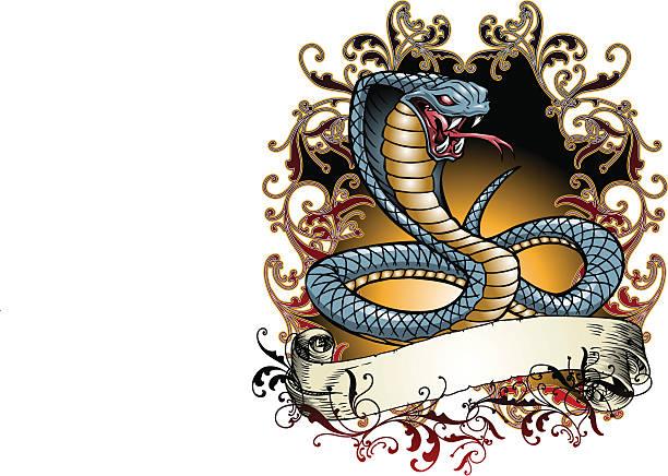 Cobra Tattoo vector art illustration