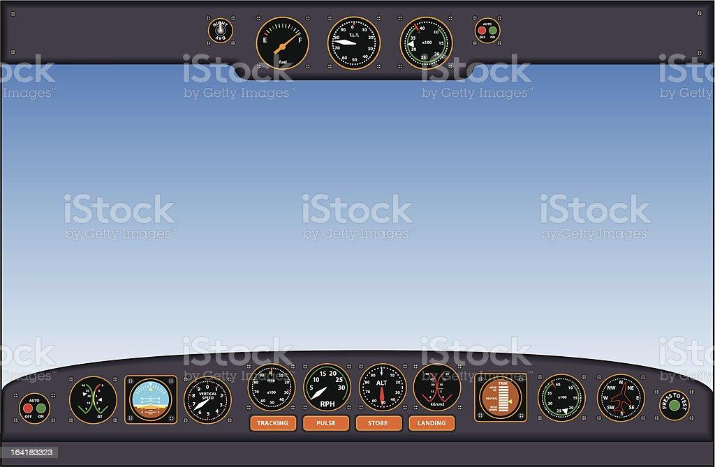 cockpit instrument panel - vector illustration royalty-free stock vector art