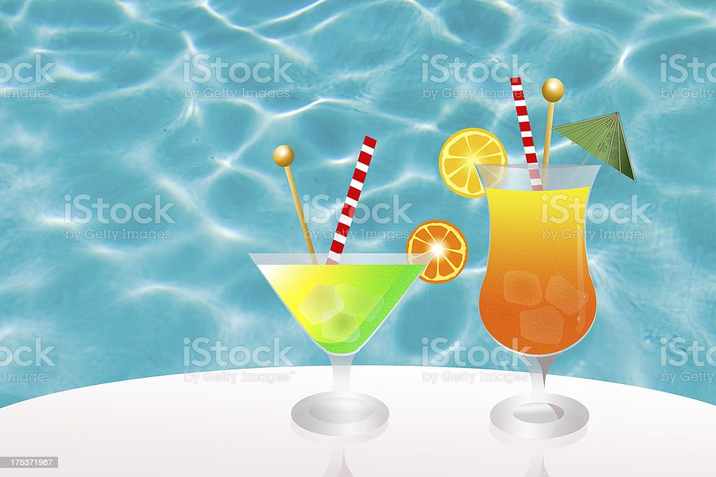 cocktail in pool royalty-free cocktail in pool stock vector art & more images of adult