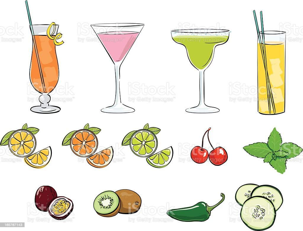 Des Cocktails - Illustration vectorielle