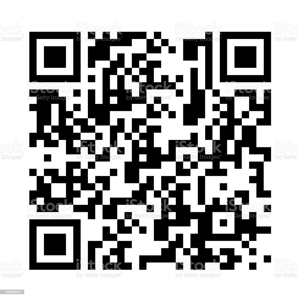 QR code vector art illustration