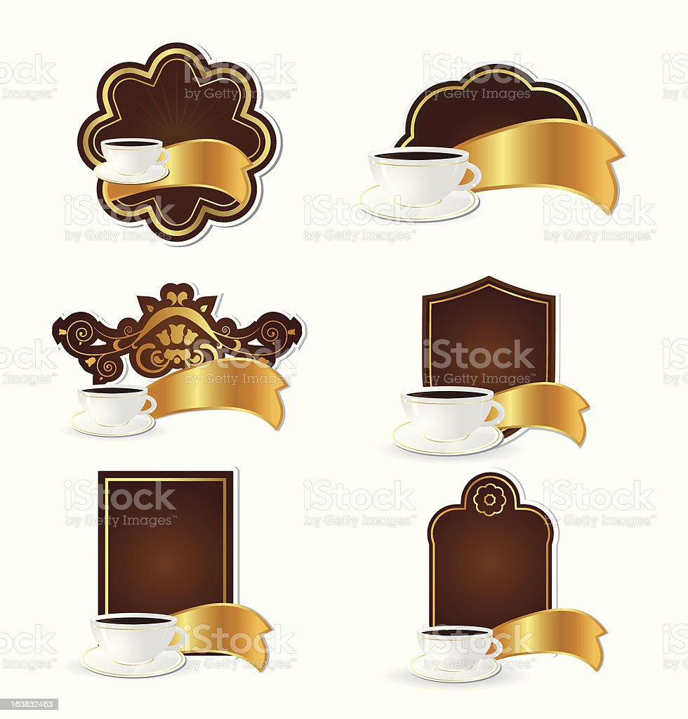 Coffe tags set royalty-free stock vector art
