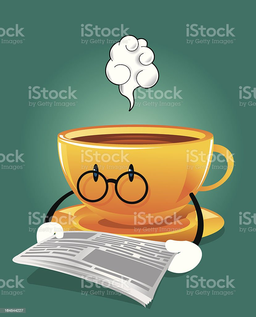 Coffee and Newspaper royalty-free stock vector art