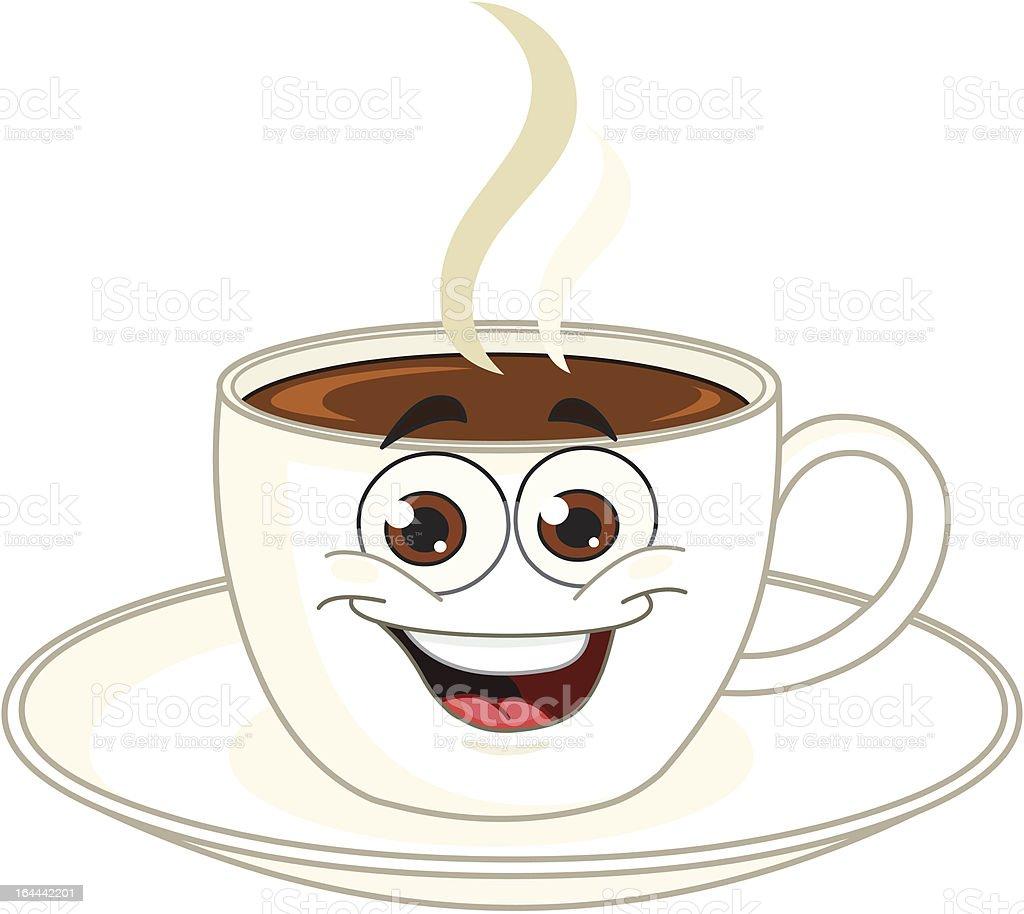 Kaffeetasse comic stock vektor art und mehr bilder von braun 164442201 istock - Bilder cappuccino ...