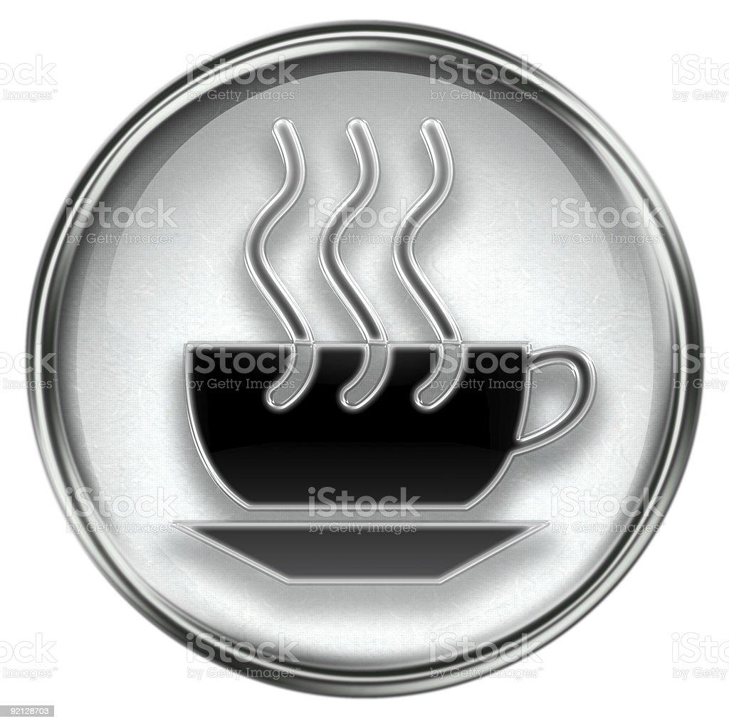 coffee cup icon grey, isolated on white background. royalty-free stock vector art