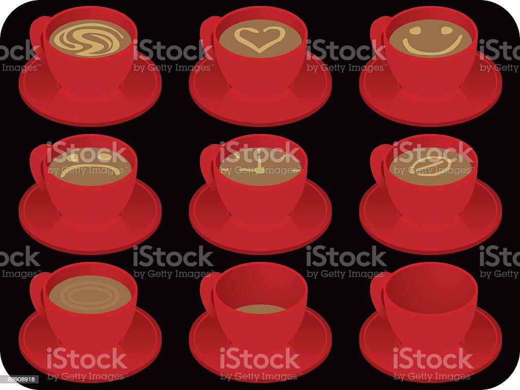 Чашки для кофе Чашки для кофе — стоковая векторная графика и другие изображения на тему Без людей Стоковая фотография