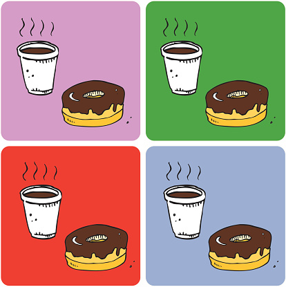 Coffee & Donut Coasters (vector illustrations)