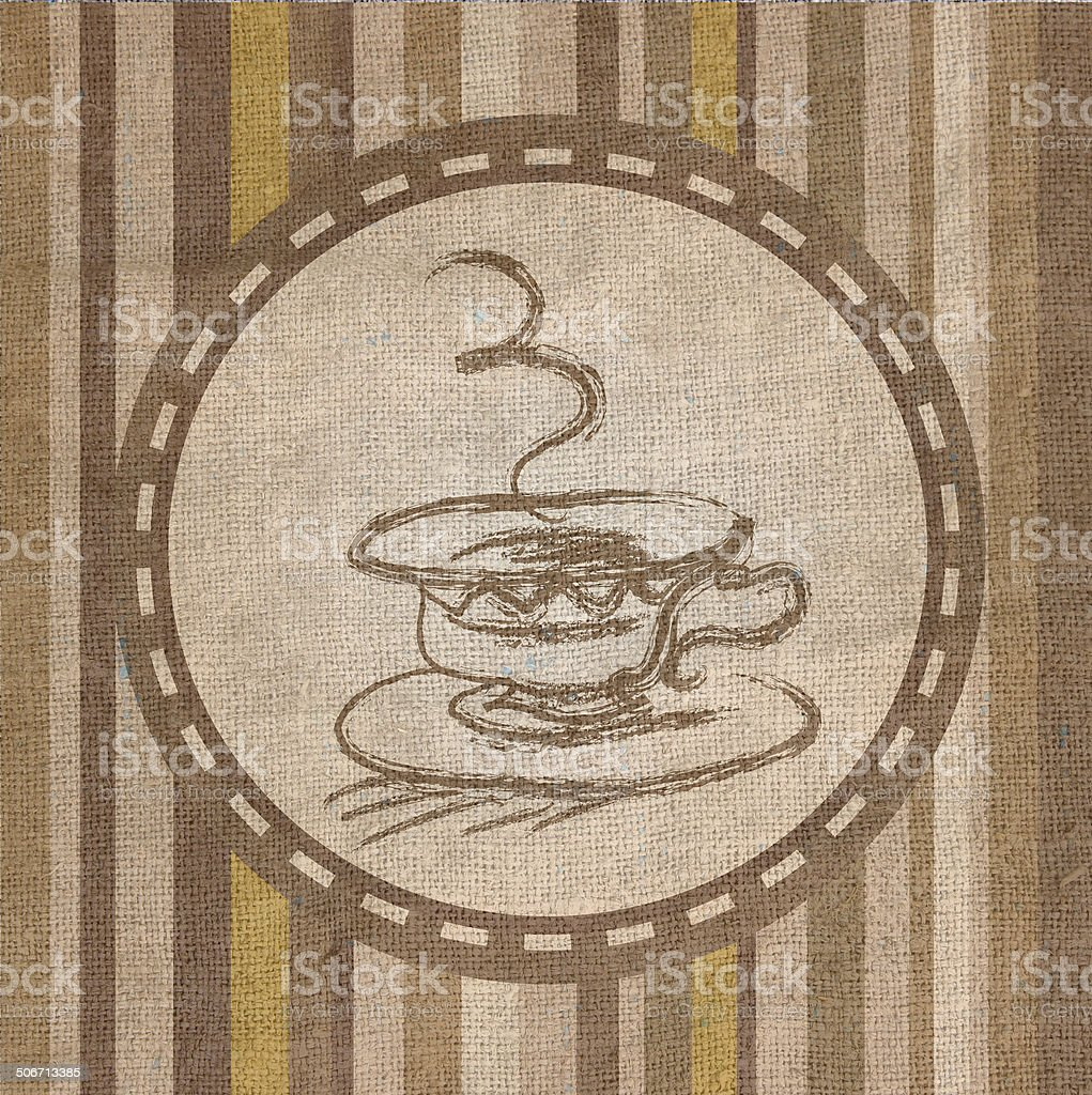 Coffee Fabric  texture royalty-free stock vector art