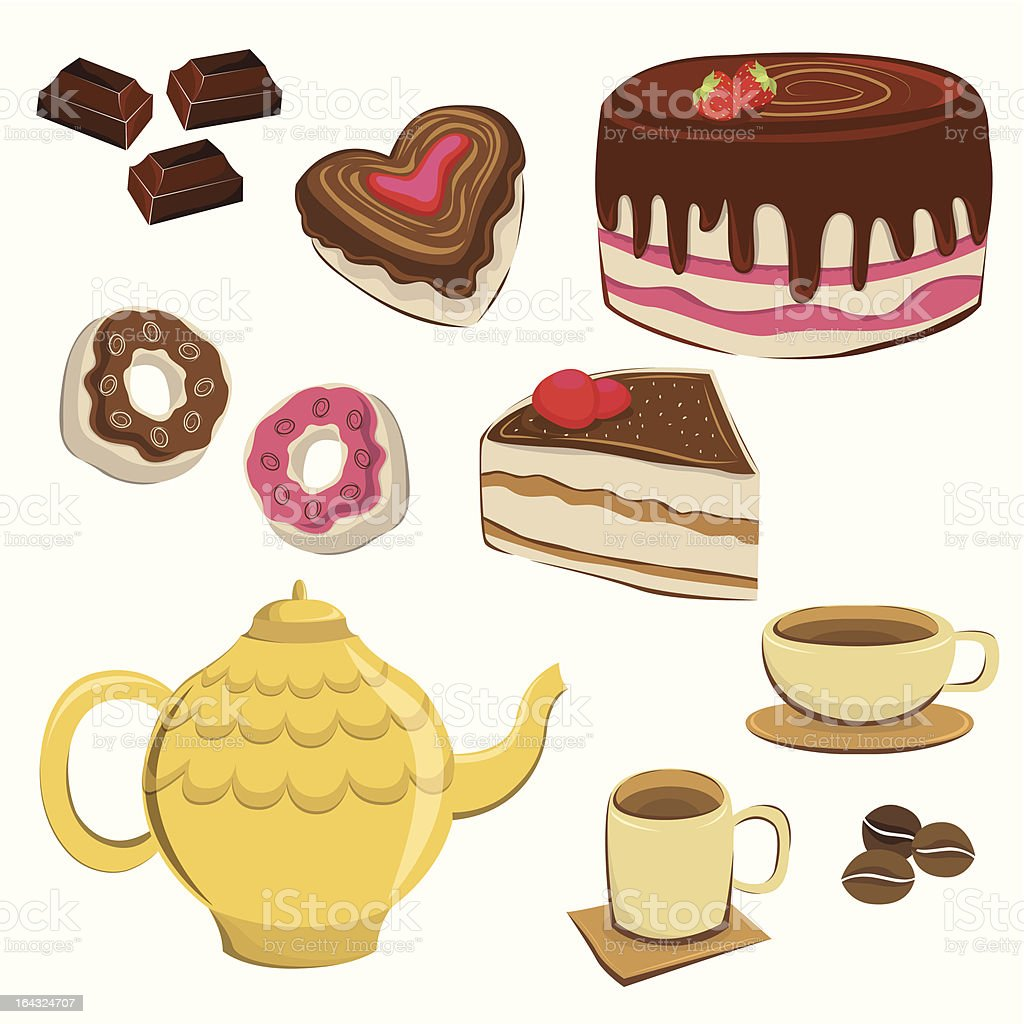 Coffee Icon Set royalty-free stock vector art