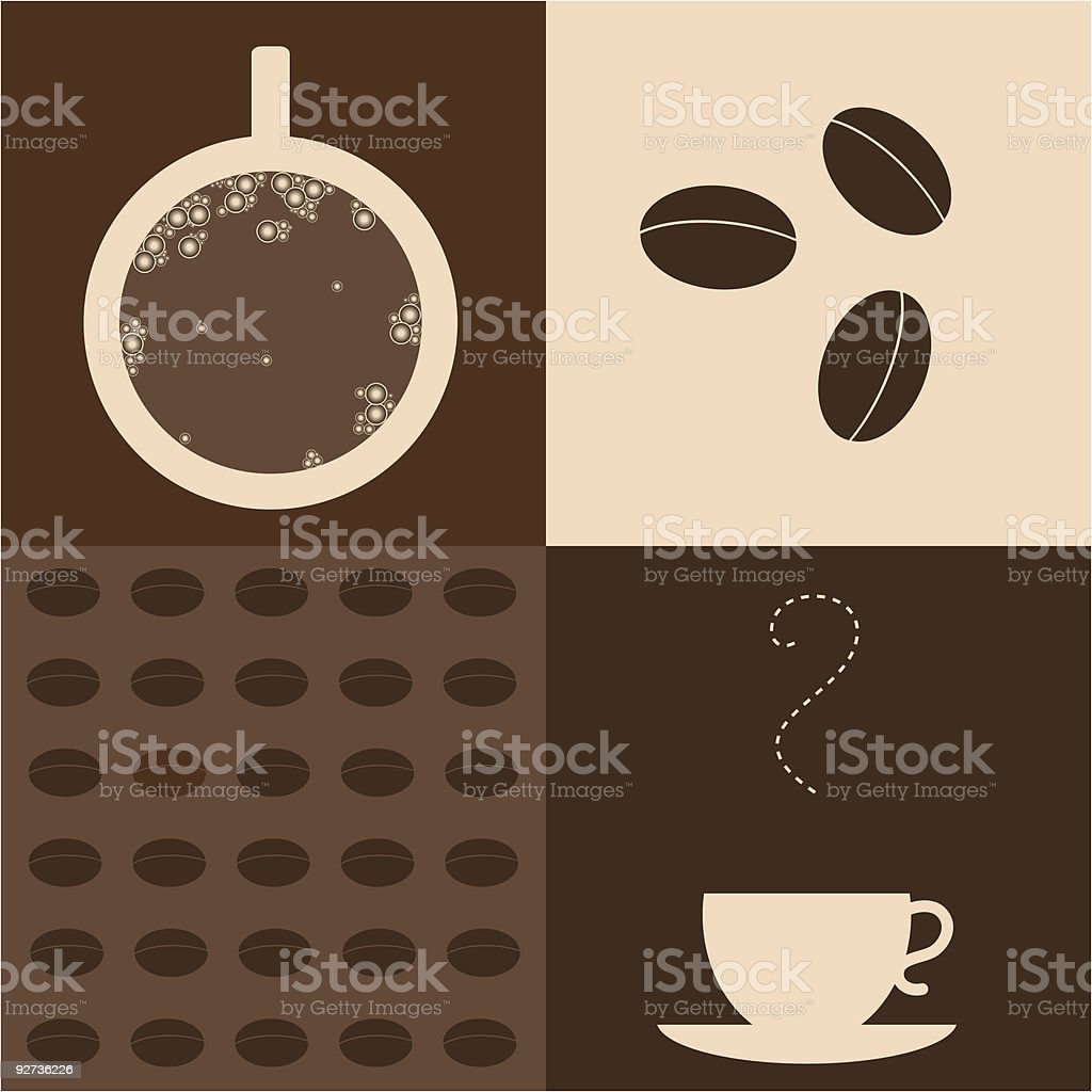 Coffee - Royalty-free Brown stock vector