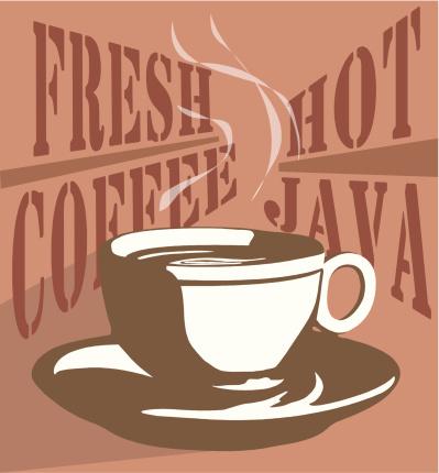 Coffee Mug: a vector cup of java
