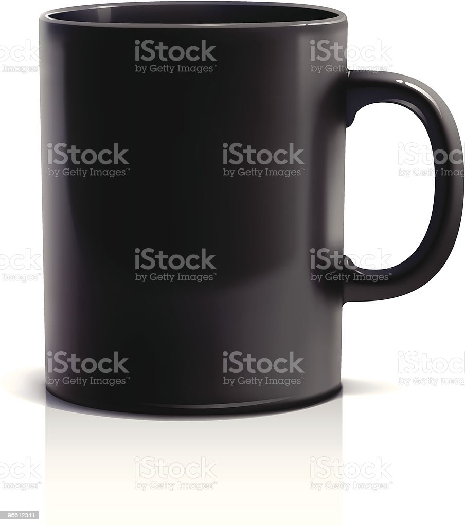 Coffee mug - Royalty-free Black Color stock vector