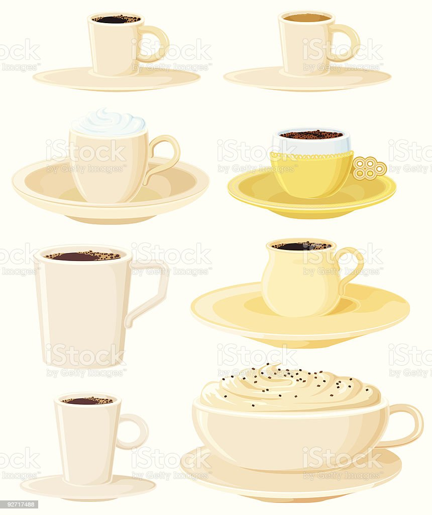 Coffee pots royalty-free stock vector art
