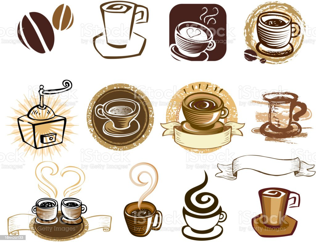 Coffee set. royalty-free coffee set stock vector art & more images of brown
