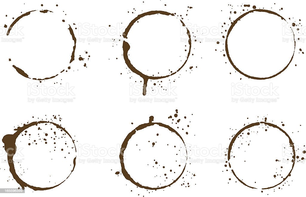 Coffee stains royalty-free coffee stains stock vector art & more images of backgrounds