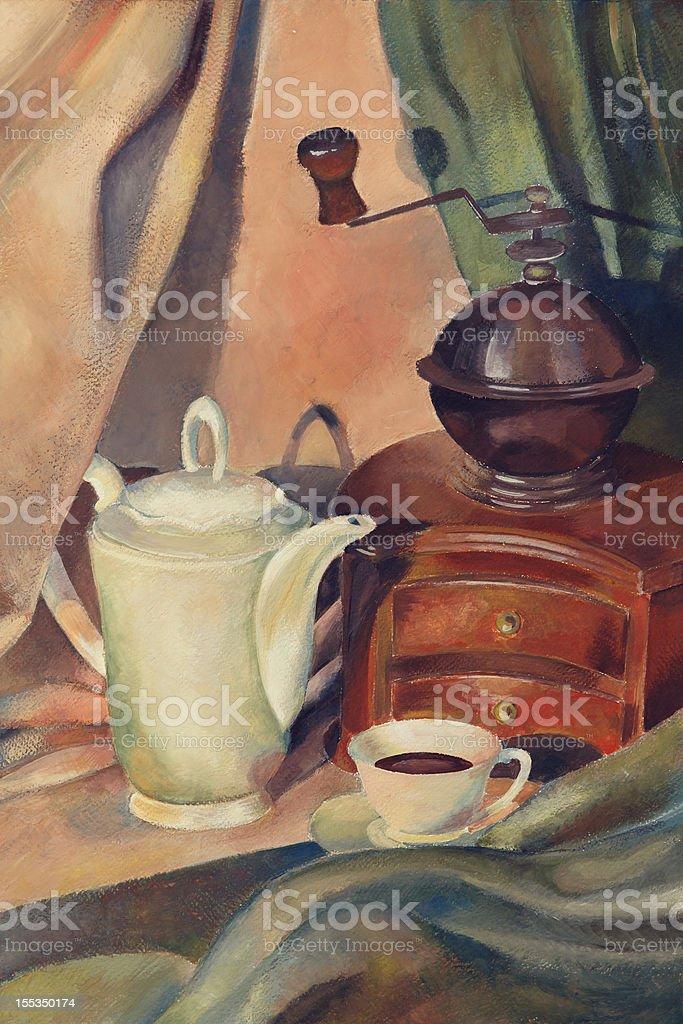 coffee still life royalty-free stock vector art