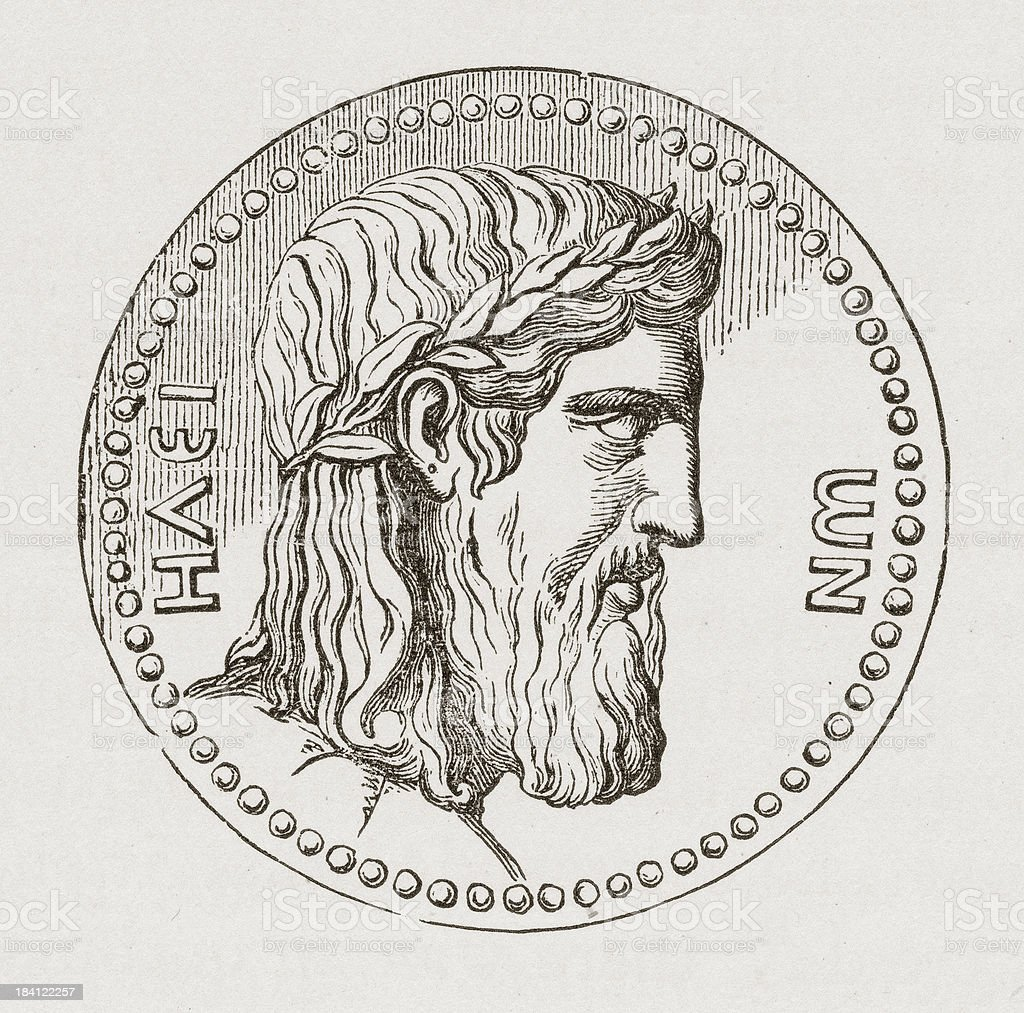 Coin of Hadrian vector art illustration