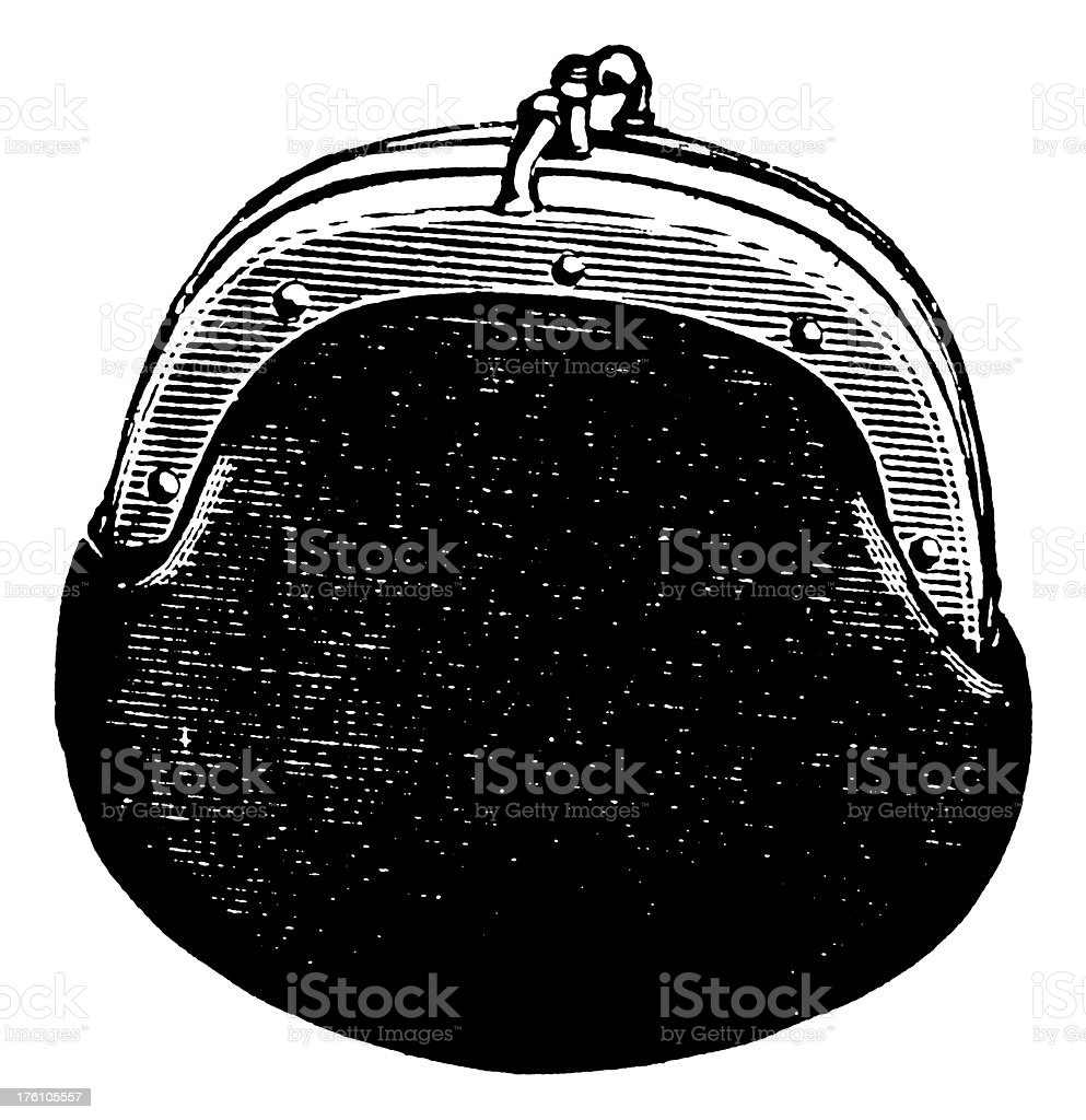 Coin purse | Antique Design Illustrations royalty-free coin purse antique design illustrations stock vector art & more images of 19th century