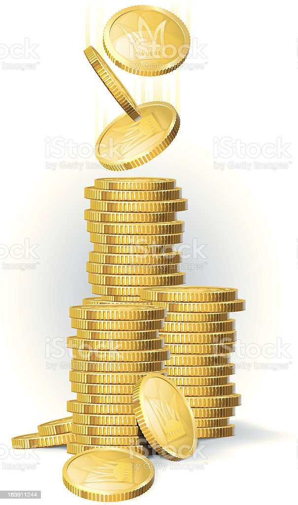Coins_2 royalty-free stock vector art