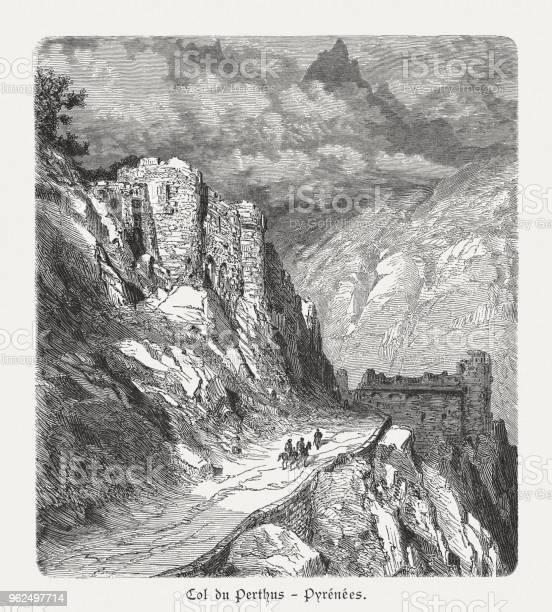 Vetores de Col Du Perthus Passe De Montanha Dos Pirinéus Publicado 1897 e mais imagens de Altos-Pireneus