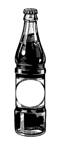 illustrazioni stock, clip art, cartoni animati e icone di tendenza di cola bottiglia - bottle soft drink