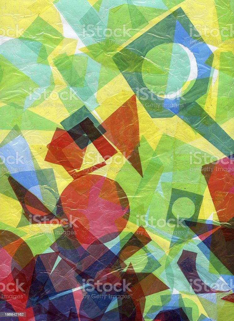 Collage vector art illustration