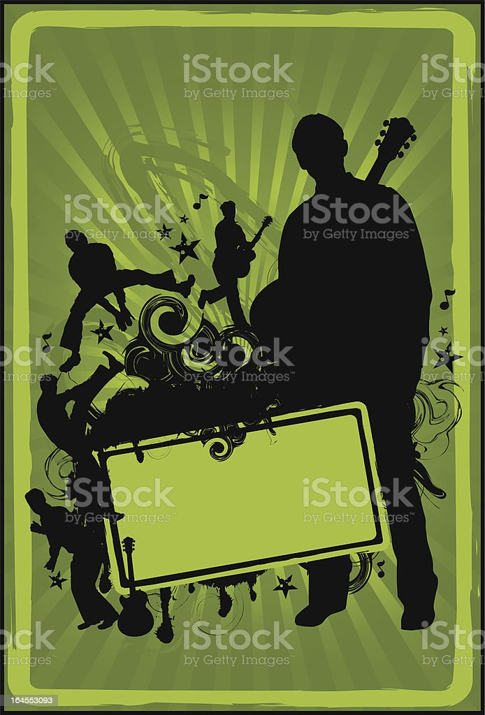 Collage of Rocker Silhouettes royalty-free stock vector art