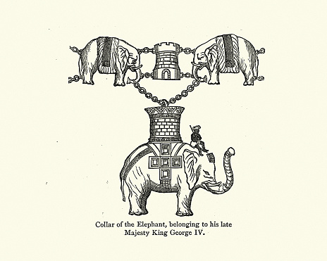 Collar of the Order of the Elephant, Belonging to King George IV