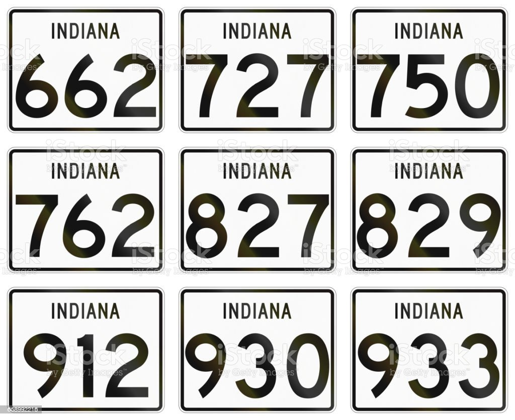 Collection of Indiana Route shields used in the United States royalty-free collection of indiana route shields used in the united states stock vector art & more images of collection