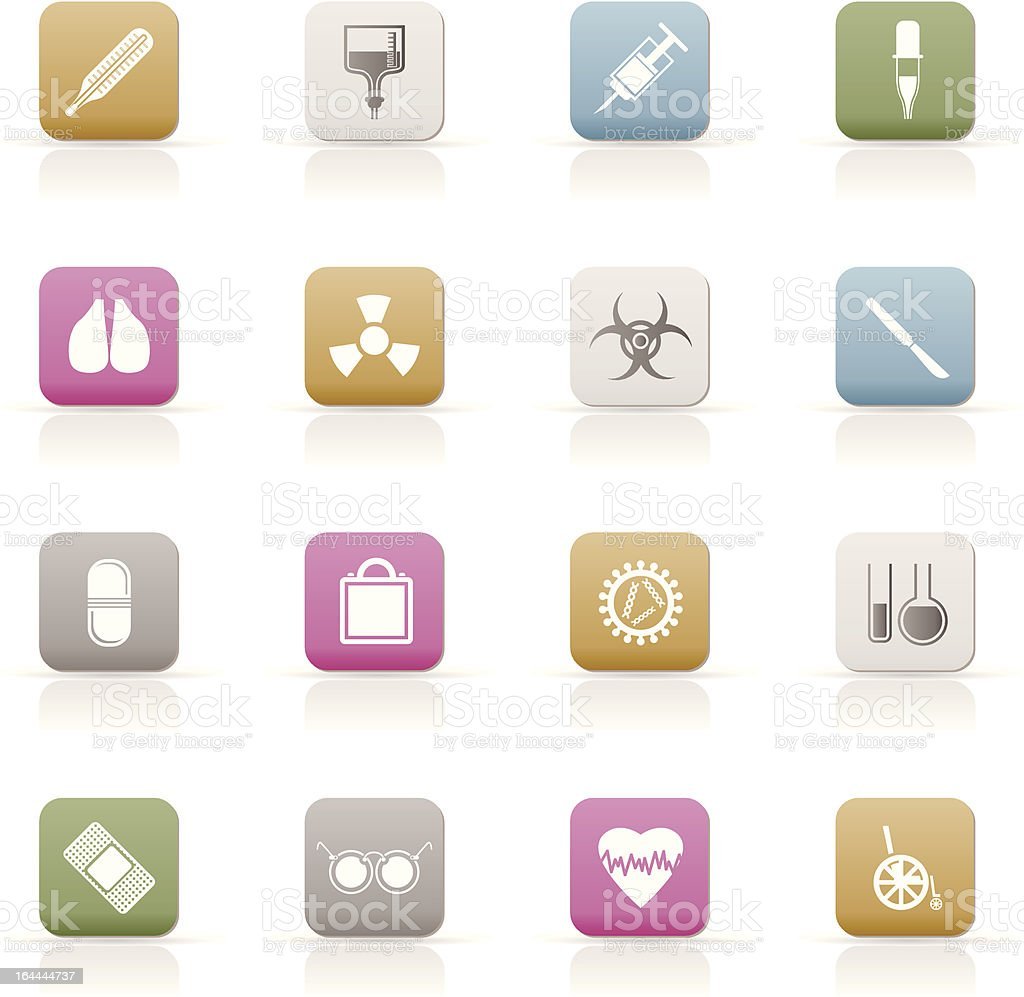 collection of medical themed icons and warning signs royalty-free stock vector art