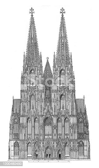 West side of Cologne Cathedral Original edition from my own archives Source :