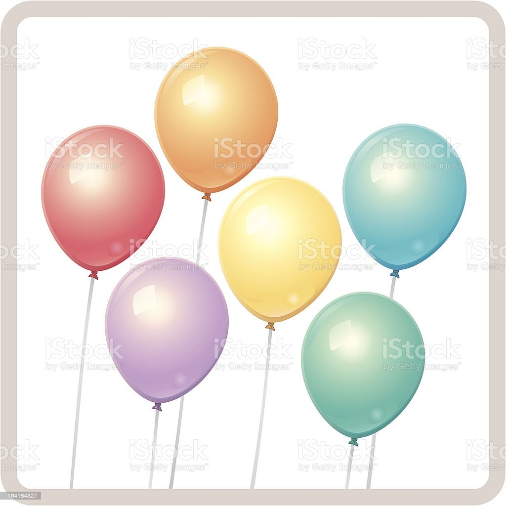 Color Balloons royalty-free stock vector art
