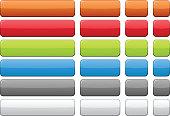 Blank rectangular color buttons. Vector.