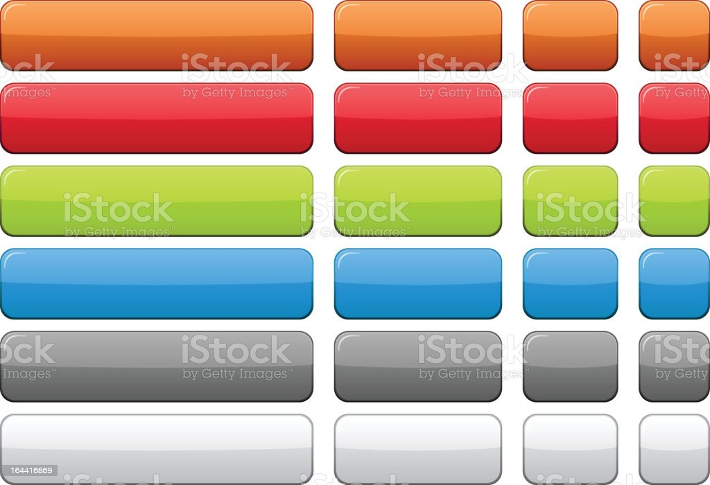 Color blank buttons. vector art illustration