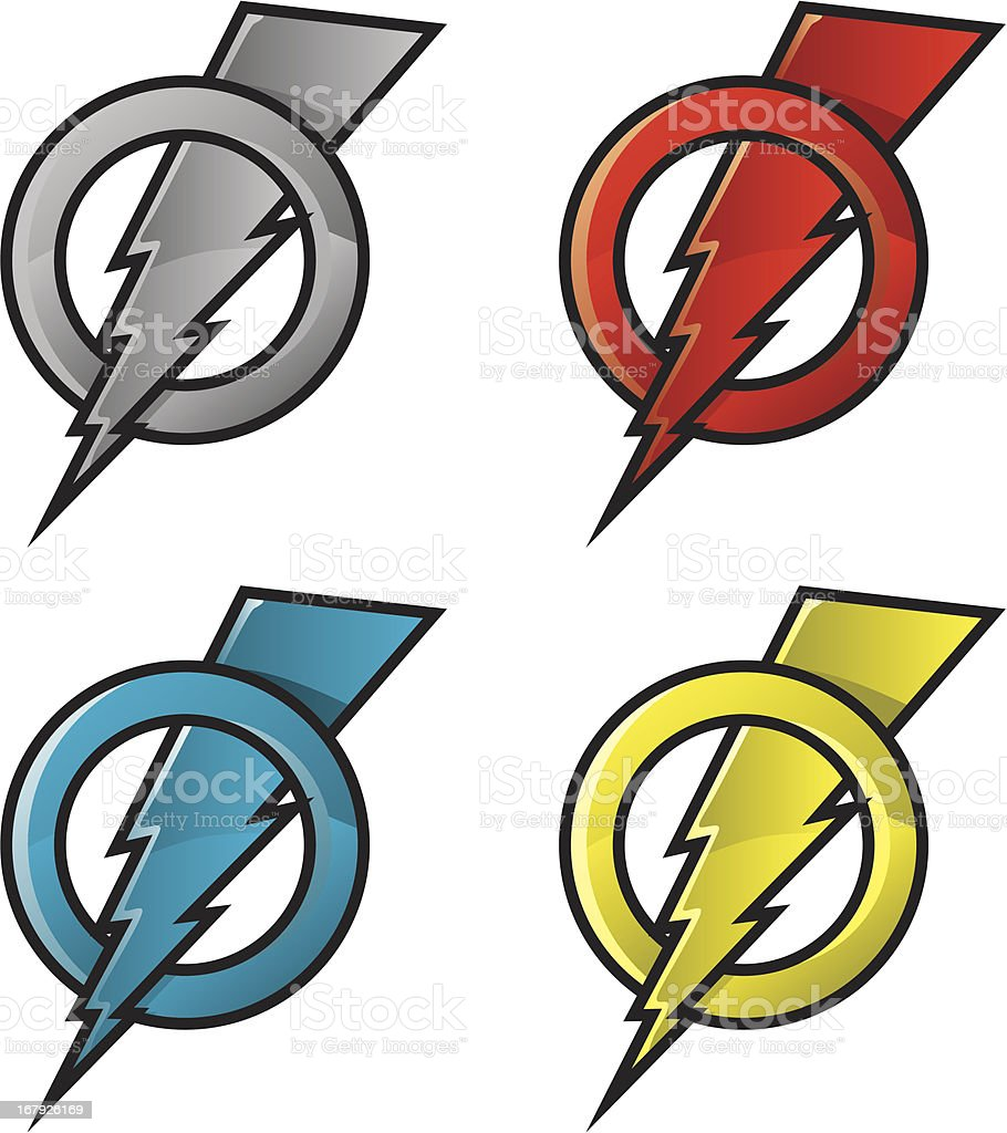 color bolts royalty-free stock vector art