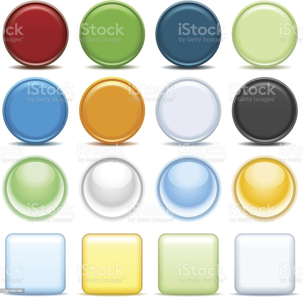 Color buttons for internet. royalty-free stock vector art