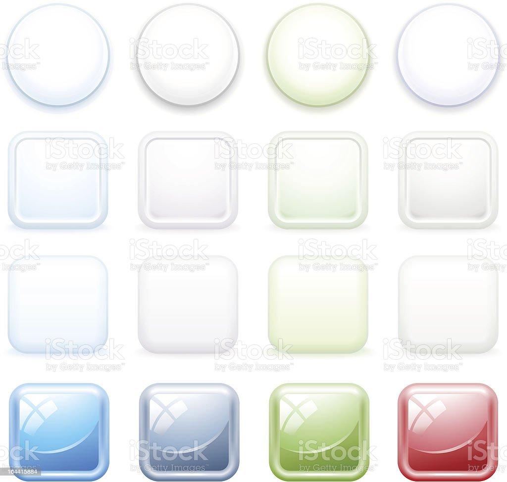 Color buttons for internet, set 3.