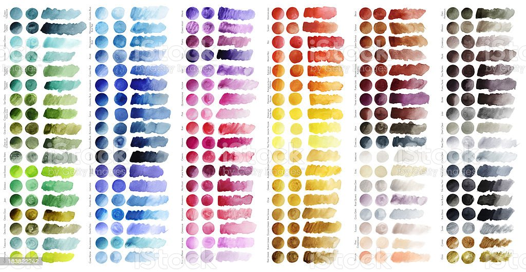 Color chart vector art illustration