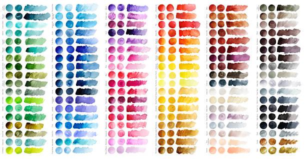 ilustrações, clipart, desenhos animados e ícones de gráfico de coloração - amostra de cor