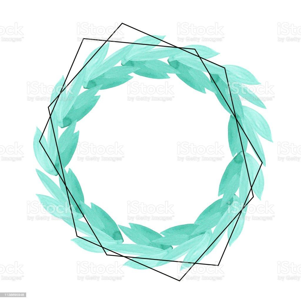 Couleur De L Emeraude couleur circulaire vert Émeraude feuille et une couronne